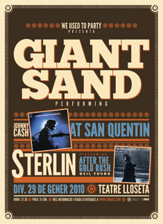 Carteles Giant Sand - At San Quentin