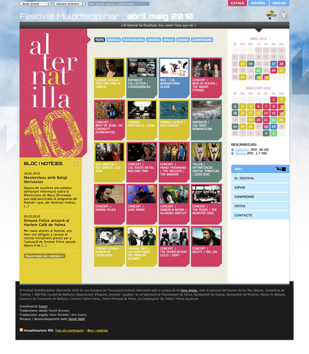 Diseño web: Alternatilla 2010