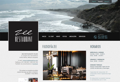 Restaurante Zee, Palma (WordPress)